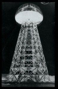 Tesla's Wardenclyffe Tower under construction