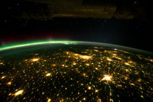 Cities at night seen from space